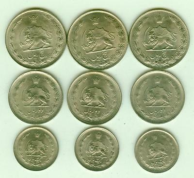 9 Uncirculated 1966-77 Coins-Lot E1