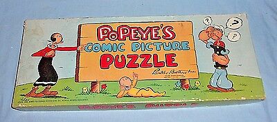 Rare Vintage Parker Brothers Popeye Comic Picture Puzzle Complete 1949