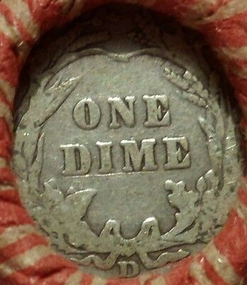 Estate Mixed Cent Roll with silver D-Mint Barber Dime / 1903 Indian Head Cent t9
