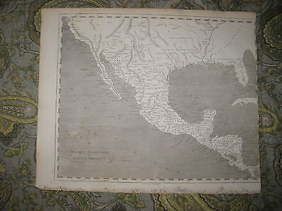 Antique 1805 Spanish America Arrowsmith And Lewis Map Mexico Texas United States