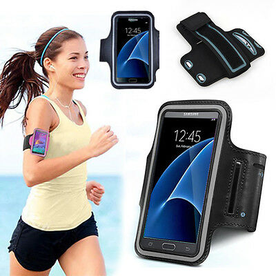 Galaxy S7 Edge Sports Gym Jogging Running Armband Arm Holder Case for Samsung