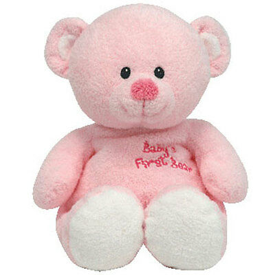 Baby TY - BABY'S FIRST BEAR PINK - MWMTs BabyTy Soft Toy