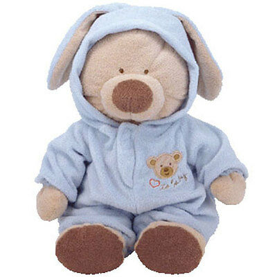 Baby TY - PJ BEAR (Blue) (Large w/ Removable PJ's - 16 Inches) - MWMTs BabyTy