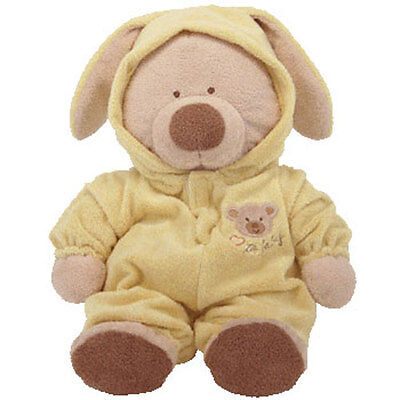 Baby TY - PJ BEAR (Yellow) (Large w/ Removable PJ's - 16 Inches) - MWMTs BabyTy