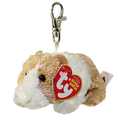 TY Beanie Baby - TWITCH the Guinea Pig ( Metal Key Clip ) (4 inch) - MWMTs