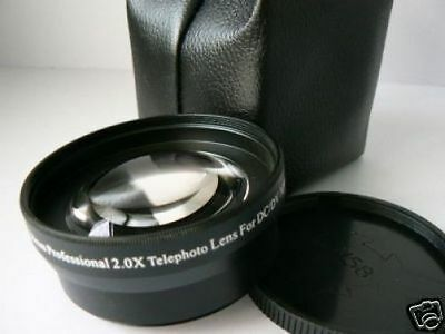 KT BK 58mm 2.0X Tele-Photo Lens For Olympus OM-D With 14-150mm 40-150mm 75-300mm