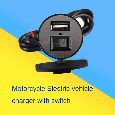 Waterproof Motorcycle Phone Charger GPS USB Power Supply Port Socket