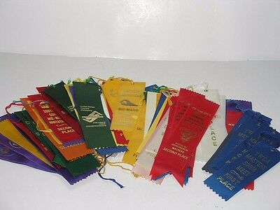 64 Swimming Prize Ribbons 1St To 5Th Place Award Us Ny & Conn Masters