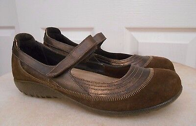 Naot Kirei Brown Copper Leather Mary Jane Shoes Womens 41 Us 10 Nice!