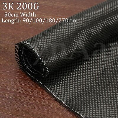 High-Quality 3K 200gsm Real Carbon Fiber Cloth Fabric Plain Twill Tape 50x270cm
