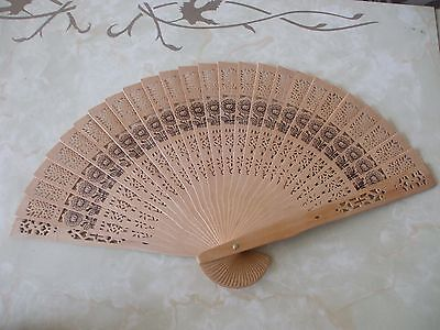 Vintage Retro Delicate Cut Wooden Hand Fan