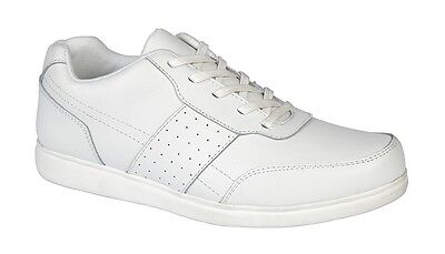 Mens New White Leather Bowls Indoor Outdoor Bowling Shoes 6 - 12