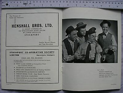 c1963 programme The Most Happy Fella Stockport Amateur Operatic Society
