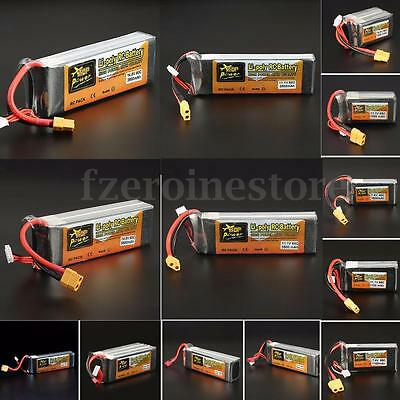ZOP Power 11.1V 7.4V  14.8V 22.2V 500-5000mAh 65C 60C Lipo Battery XT60 T Plug