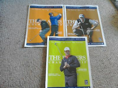 3 x Drawsheets for The Golf Players Championship Sawgrass March 24/25/26th 2006.