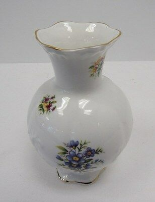 Queens Rosina China Co Ltd 1875 Vase 6.5 inch white floral - WAR P1
