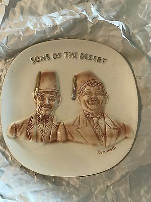 Laurel & Hardy Sons of the Desert Limited First Edition Wall Plaque 1971
