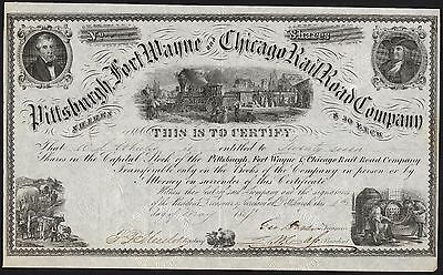 Pittsburgh, Fort Wayne & Chicago Rail Road Co., $50 shares, 1857