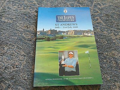 The Open Golf Championship Programme St Andrews 2000.
