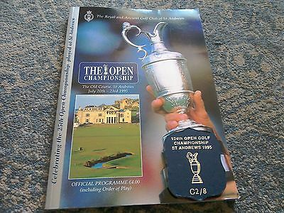 The Open Golf Championship Programme & Course Badge St Andrews July 1995.