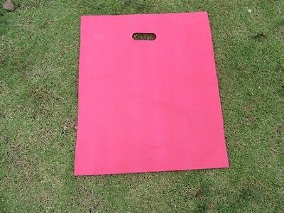 100 Pink Plastic Shopping Bags Gift Bag 54.5x45cm