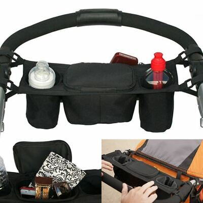 Baby Pram Buggy Organiser Pushchair Stroller Storage Cup Holder Bag