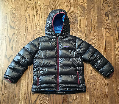 Patagonia Down Jacket Youth Small 7-8 Hooded Warm Winter Puffer