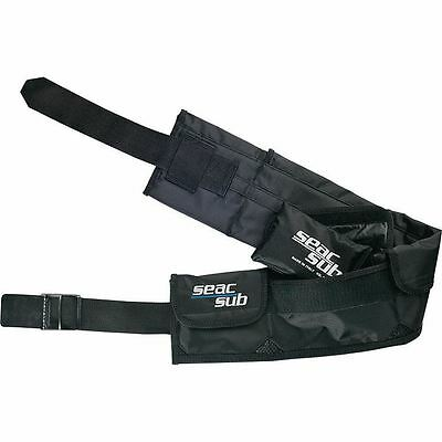 SEAC - Scuba Divers Pocket / Pouch Weight Belt - Sizes Small to XL - 3-6 Pockets