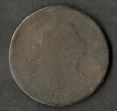 USA Early Large Size Copper One Cent 1807 Poor Condition