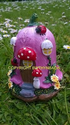 New Design Rubber Latex Mould Mold Small Fairy Fairie Foxglove Cottage  House #2