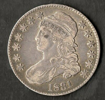 1831 USA Silver Capped Bust Half Dollar in VF+ Condition