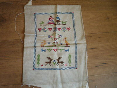 1951 Colourful Embroidery Sampler