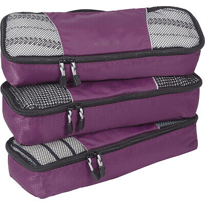 eBags Slim Classic Packing Cubes - 3pc Set 13 Colors Travel Organizer NEW