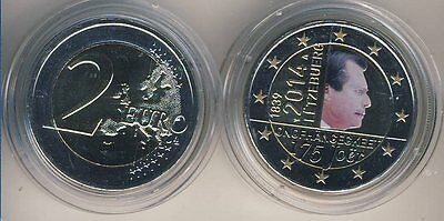 Commemorative coin 2014 Luxembourg Independence COLOUR
