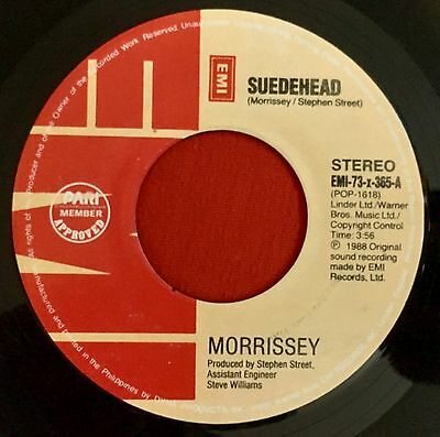 """MORRISSEY -Suedehead- Extremely Rare Philippines EMI 7"""" (The Smiths)"""
