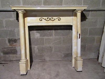 ~  Antique Oak Fireplace Mantel With Columns  ~  Architectural Salvage
