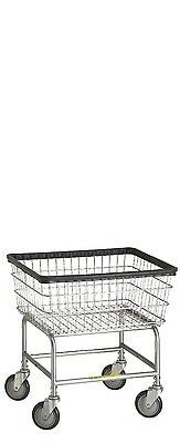 NEW Rolling Narrow Laundry Cart/Chrome Basket on Wheels R&B Wire 100D