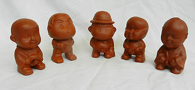 Rather Odd Chinese Terracotta Peeing Boy Figure - New - Gift / Novelty