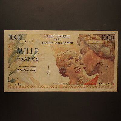 French Equatorial Africa 1000 Francs ND(1947) P#26 Banknote VF
