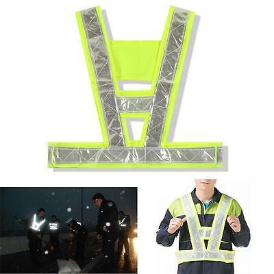 Hi Vis Visibility Yellow Vest Reflective Safety Work Waistcoat Silver Fashion @C