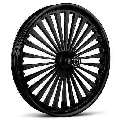 """Dna """"ss2"""" Gloss Black Forged Billet 23"""" X 3.75"""" Front Wheel Harley Softail"""