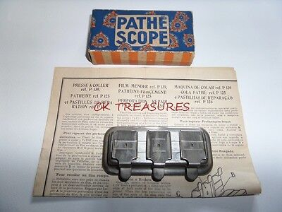Vintage Pathescope Film Mender Splicer P 139 Boxed With Instructions