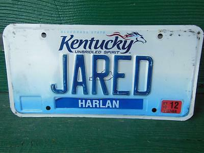 Kentucky Jared Vanity License Plate Personalized Name Automobile Barn Bar Pub