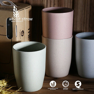 4 PC/Set Natural Degradation Of Wheat Straw Fiber Environmental Tableware Cup