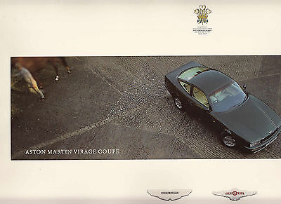 Aston Martin Virage Coupe Brochure.