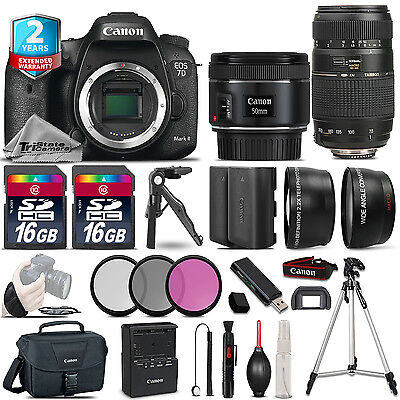 Canon EOS 7D Mark II Camera + 50mm 1.8 STM & 70-300mm + EXT BAT + 2yr Warranty