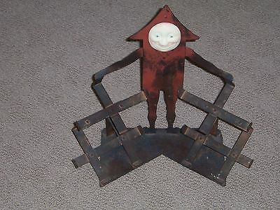 Old Wrigley's Metal Man Four Box Display Piece
