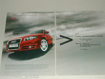 2005 Audi 2-page advertisement, AUDI A4, red sports car