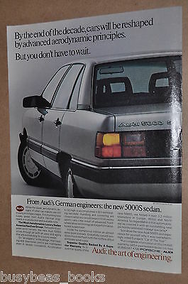 1984 Audi advertisement, AUDI 5000S Sedan, large rear quarter photo