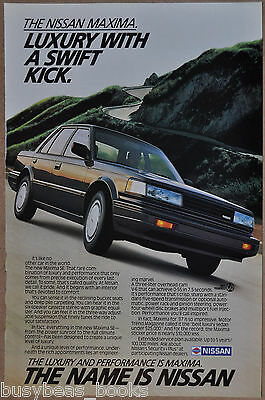 1987 NISSAN MAXIMA advertisement, Nissan Maxima sedan